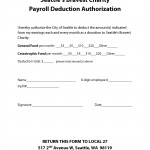 SBC Payroll Deduction Authorization